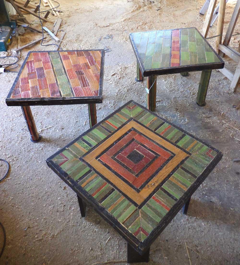 Tavolini n legno di riciclo