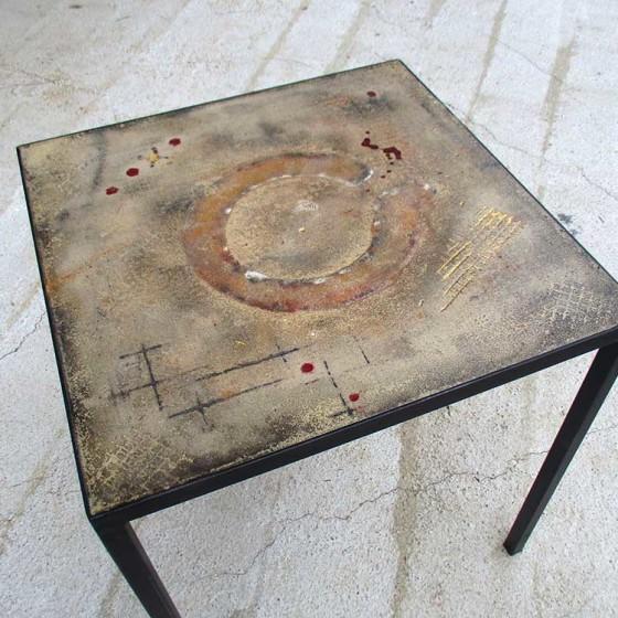 Tavolo Cemento 70×70 (bordeaux)