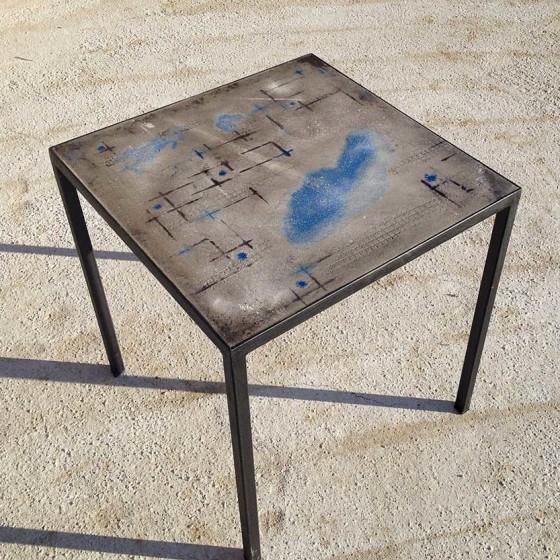 Tavolo Cemento 70×70 (BLU)