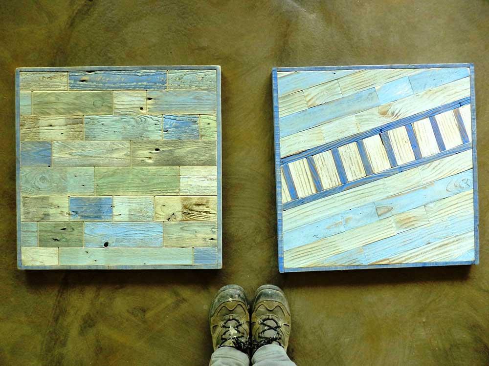 Pannelli decorativi in legno o cemento